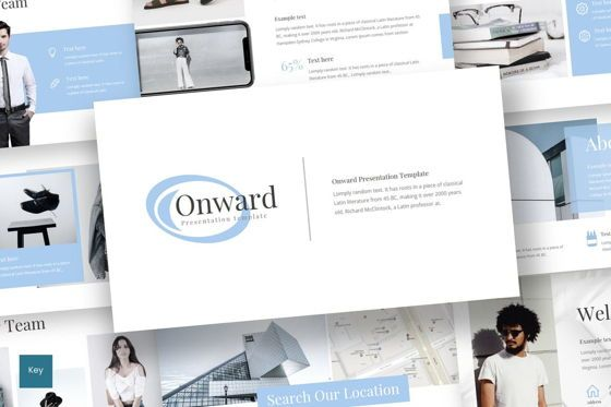 Presentation Templates: Onward - PowerPoint Template #08298