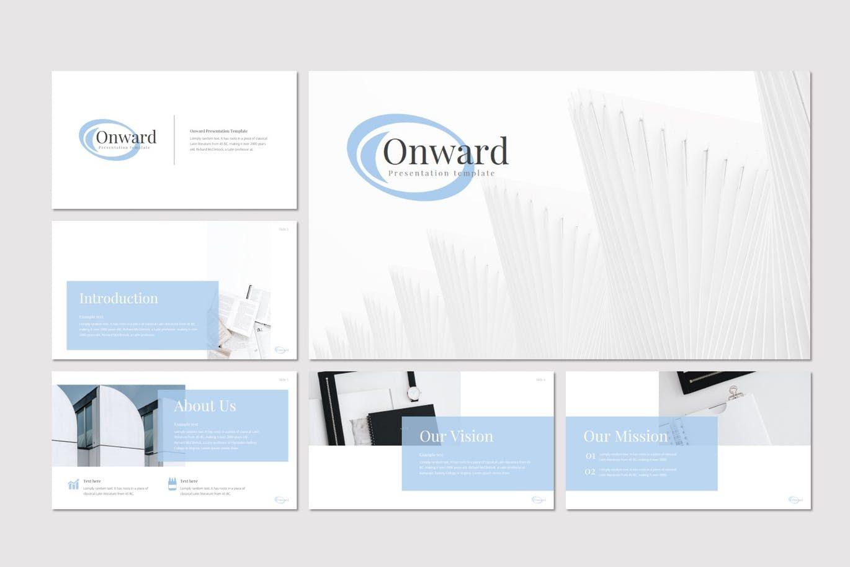 Onward - PowerPoint Template, Slide 2, 08298, Presentation Templates — PoweredTemplate.com