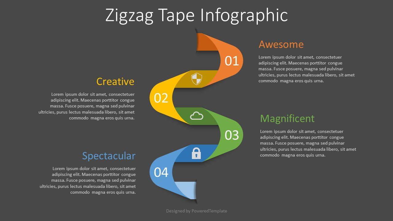 Zigzag Tape Infographic, Slide 2, 08299, Process Diagrams — PoweredTemplate.com