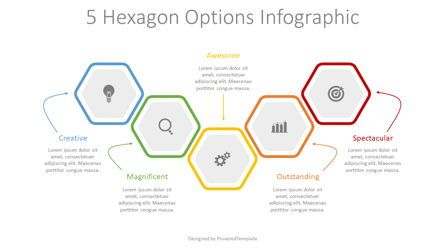 Infographics: 5 Colored Hexagon Options #08301