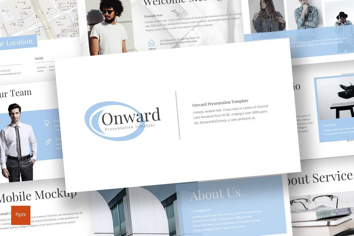 Onward - Keynote Template, 08305, Presentation Templates — PoweredTemplate.com
