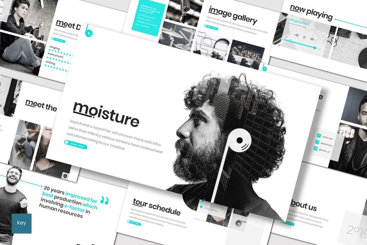 Moisture - Keynote Template, 08306, Presentation Templates — PoweredTemplate.com