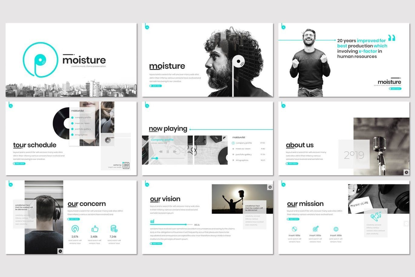 Moisture - Keynote Template, Slide 2, 08306, Presentation Templates — PoweredTemplate.com