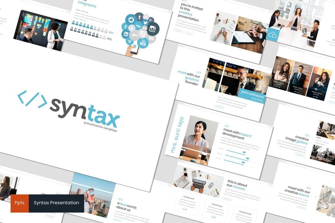 Syntax - PowerPoint Template, 08307, Presentation Templates — PoweredTemplate.com
