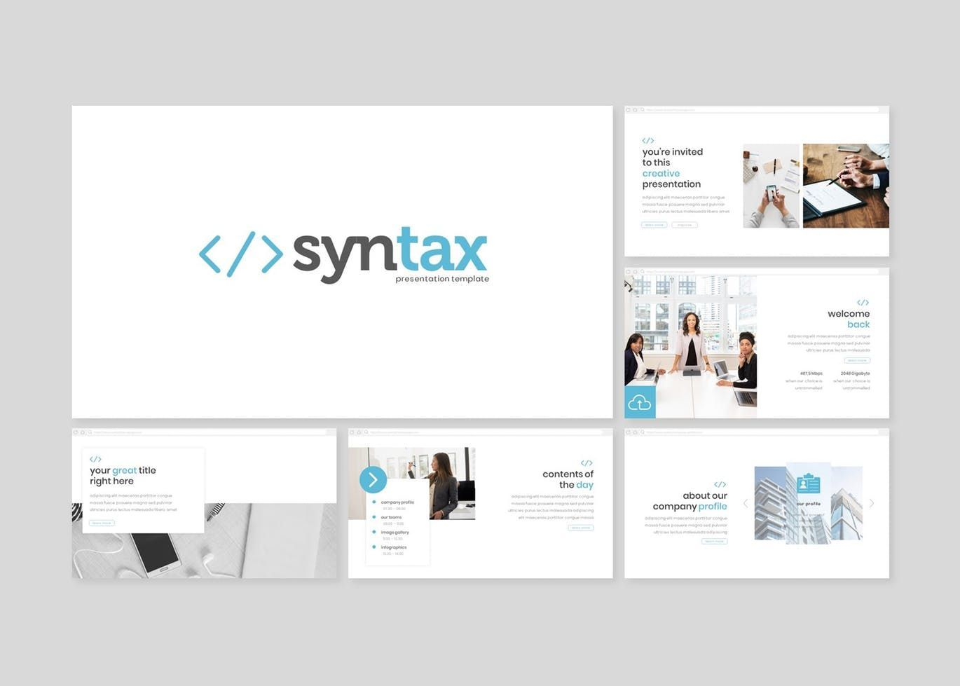 Syntax - PowerPoint Template, Slide 2, 08307, Presentation Templates — PoweredTemplate.com