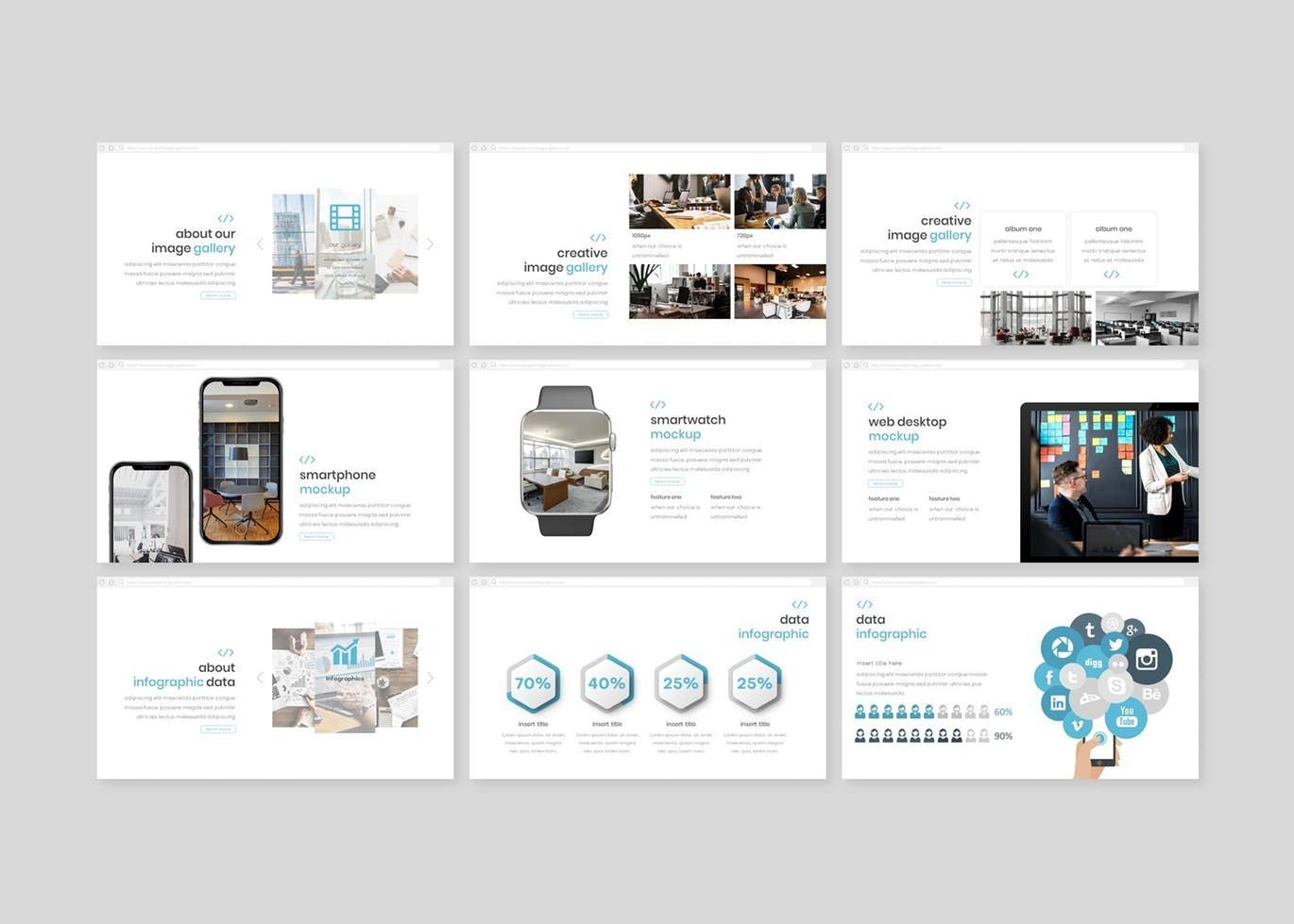 Syntax - PowerPoint Template, Slide 4, 08307, Presentation Templates — PoweredTemplate.com