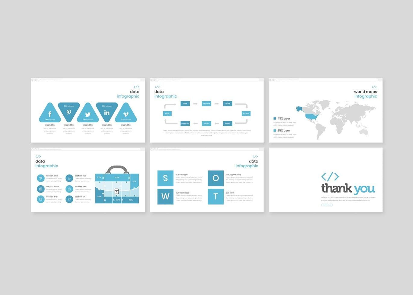 Syntax - PowerPoint Template, Slide 5, 08307, Presentation Templates — PoweredTemplate.com