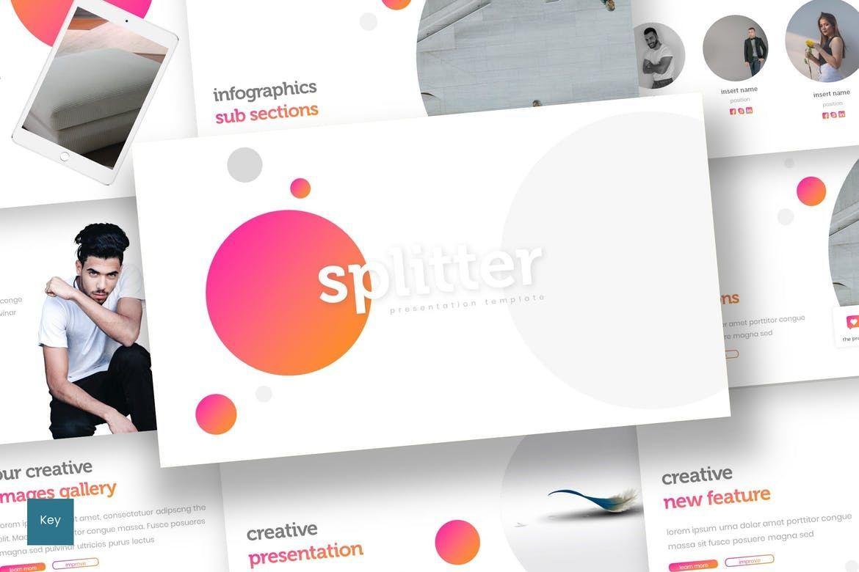 Splitter - Keynote Template, 08309, Presentation Templates — PoweredTemplate.com