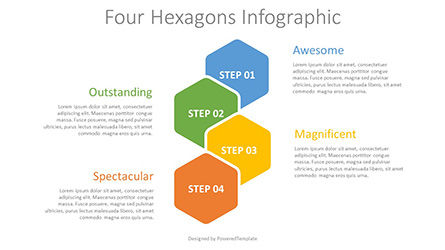 Infographics: Four Hexagons Infographic #08310