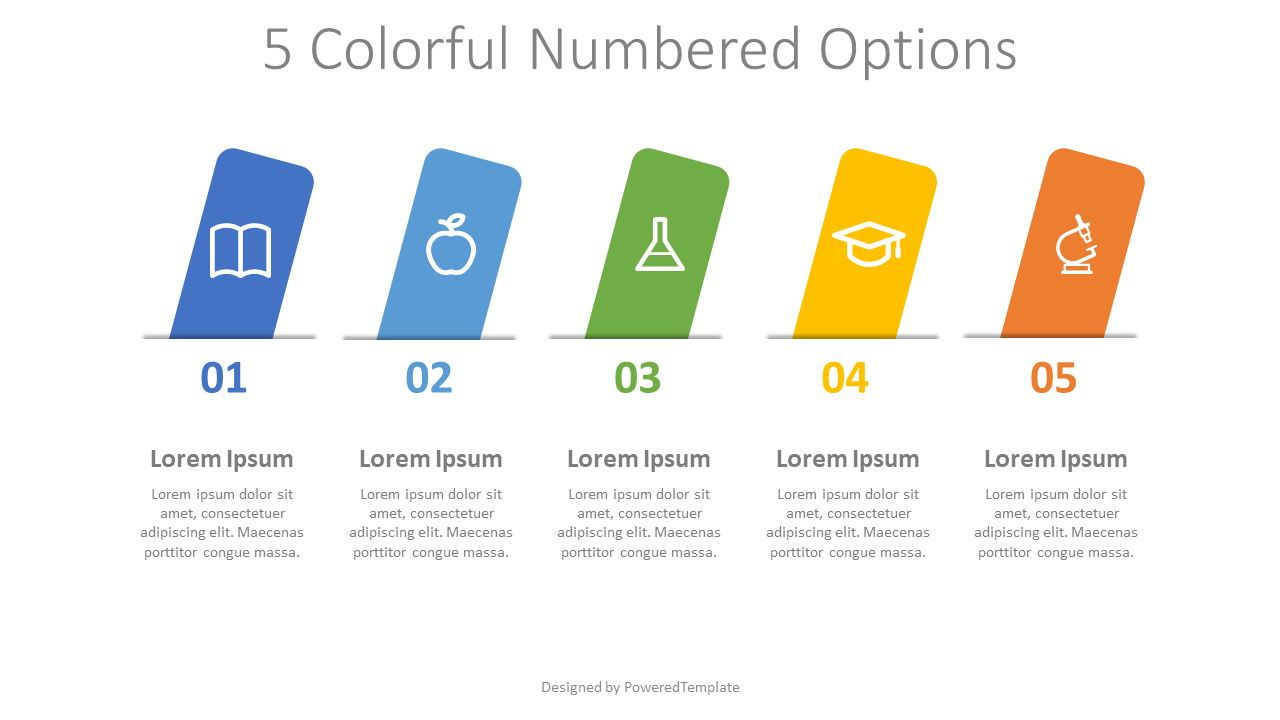 5 Colorful Numbered Options, Slide 2, 08312, Infographics — PoweredTemplate.com