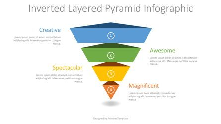 Business Models: Inverted Layered Pyramid Diagram #08314