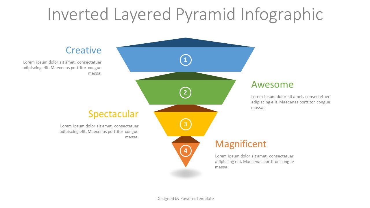 Inverted Layered Pyramid Diagram, 08314, Business Models — PoweredTemplate.com