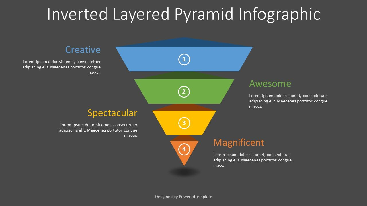 Inverted Layered Pyramid Diagram, Slide 2, 08314, Business Models — PoweredTemplate.com