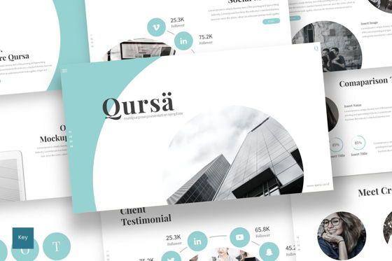 Presentation Templates: Qursa - Keynote Template #08315