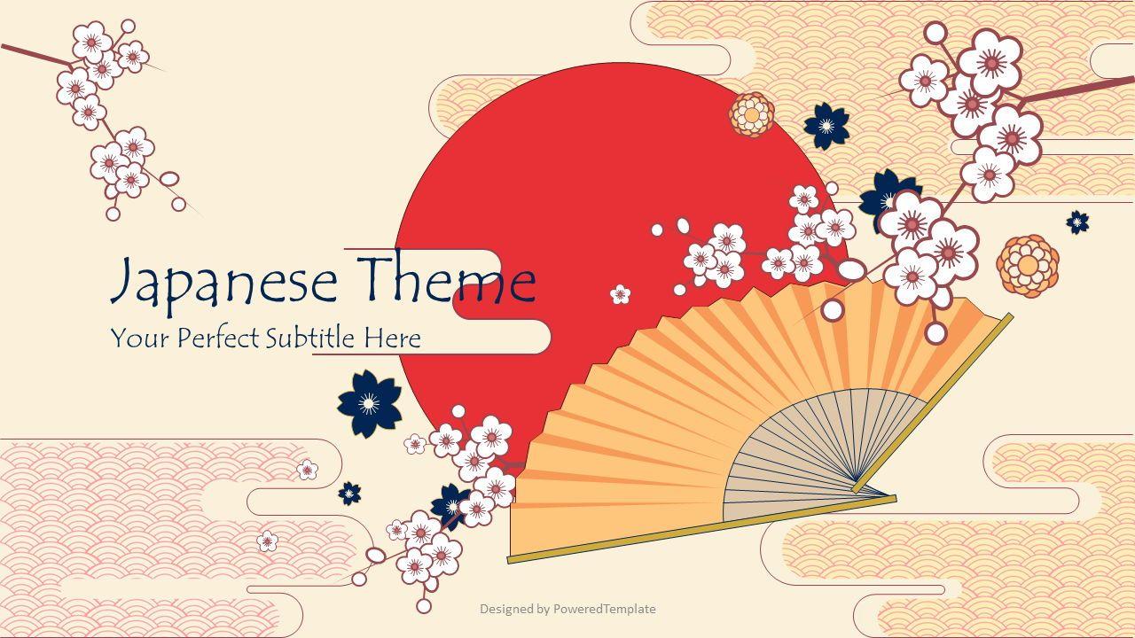 Japanese Landscape Cover Slide, 08317, Presentation Templates — PoweredTemplate.com