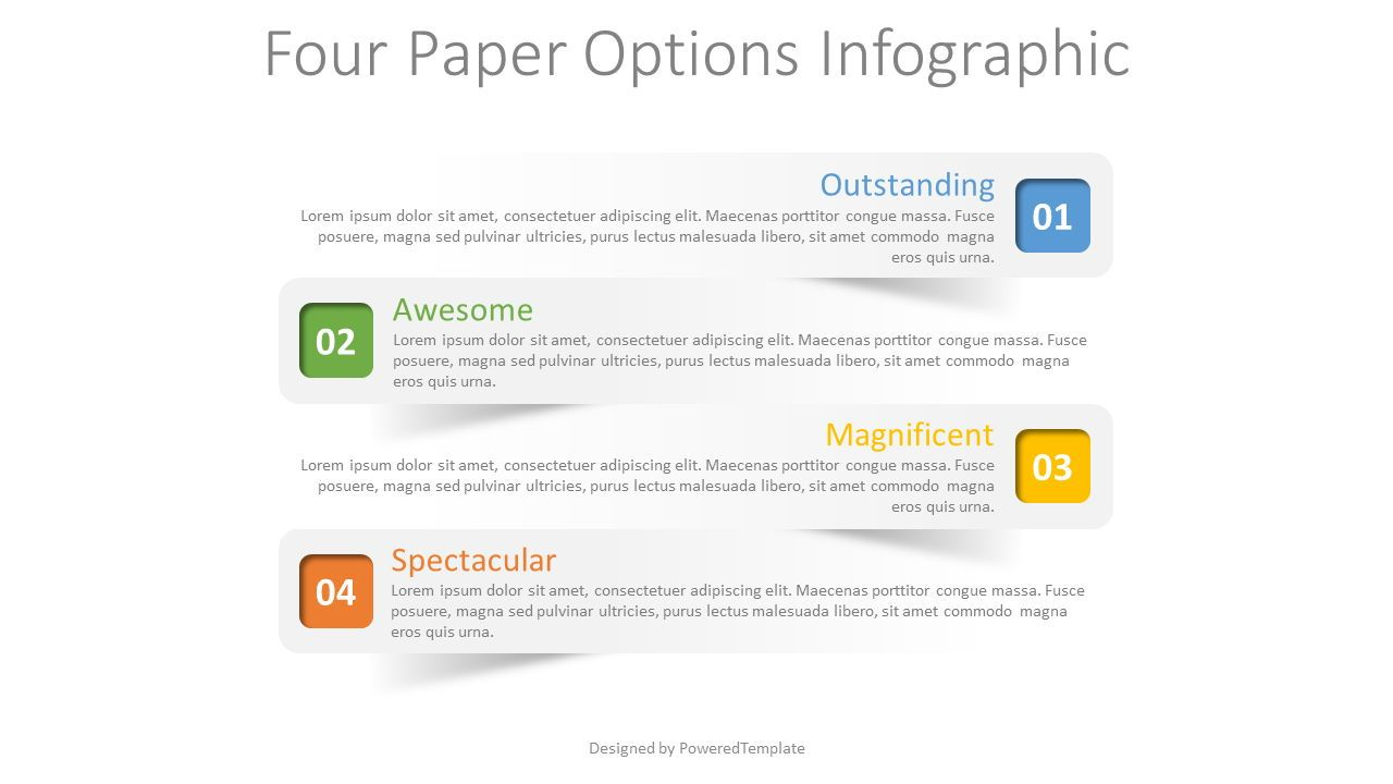 4 Paper Options Infographic, 08319, Infographics — PoweredTemplate.com