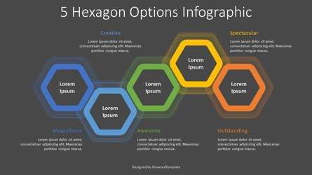 Shapes: 5 Hexagon Options Infographic #08320