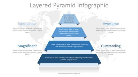 Infographics: Pyramid with Ribbon Layers Infographic #08322