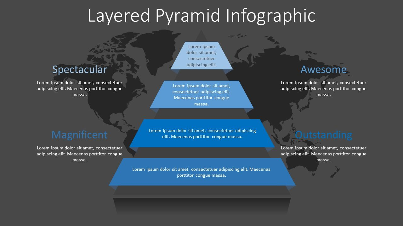 Pyramid with Ribbon Layers Infographic, Slide 2, 08322, Infographics — PoweredTemplate.com