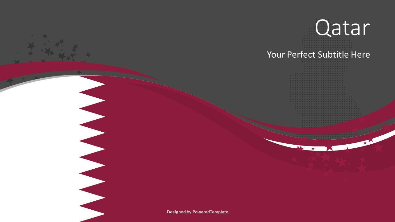 Qatar State Flag Theme, Slide 2, 08323, Presentation Templates — PoweredTemplate.com
