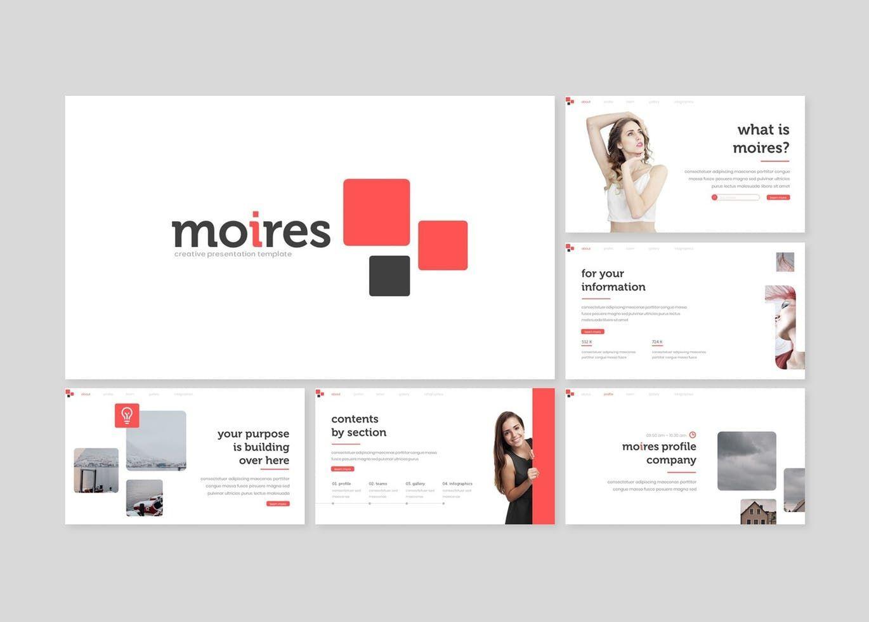 Moires - PowerPoint Template, Slide 2, 08324, Presentation Templates — PoweredTemplate.com