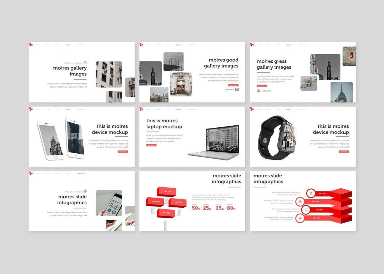 Moires - PowerPoint Template, Slide 4, 08324, Presentation Templates — PoweredTemplate.com