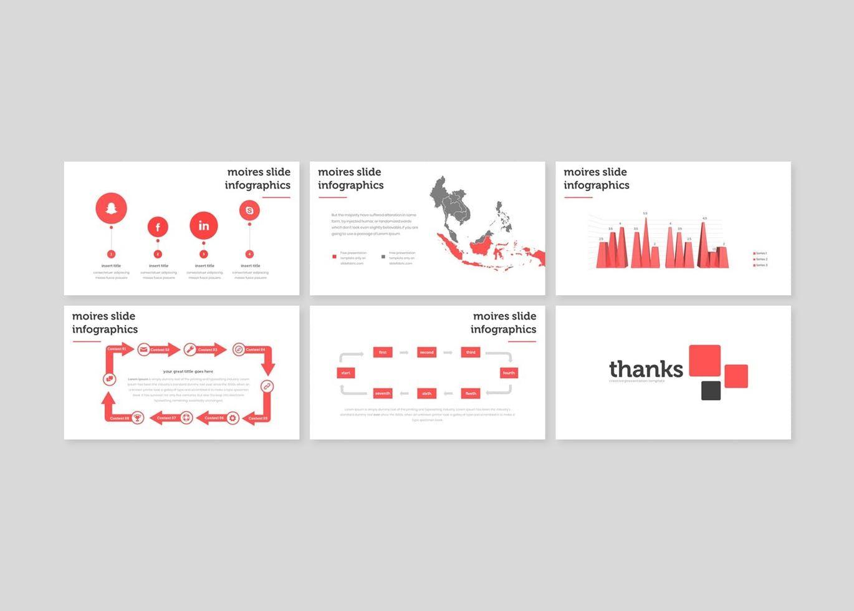 Moires - PowerPoint Template, Slide 5, 08324, Presentation Templates — PoweredTemplate.com