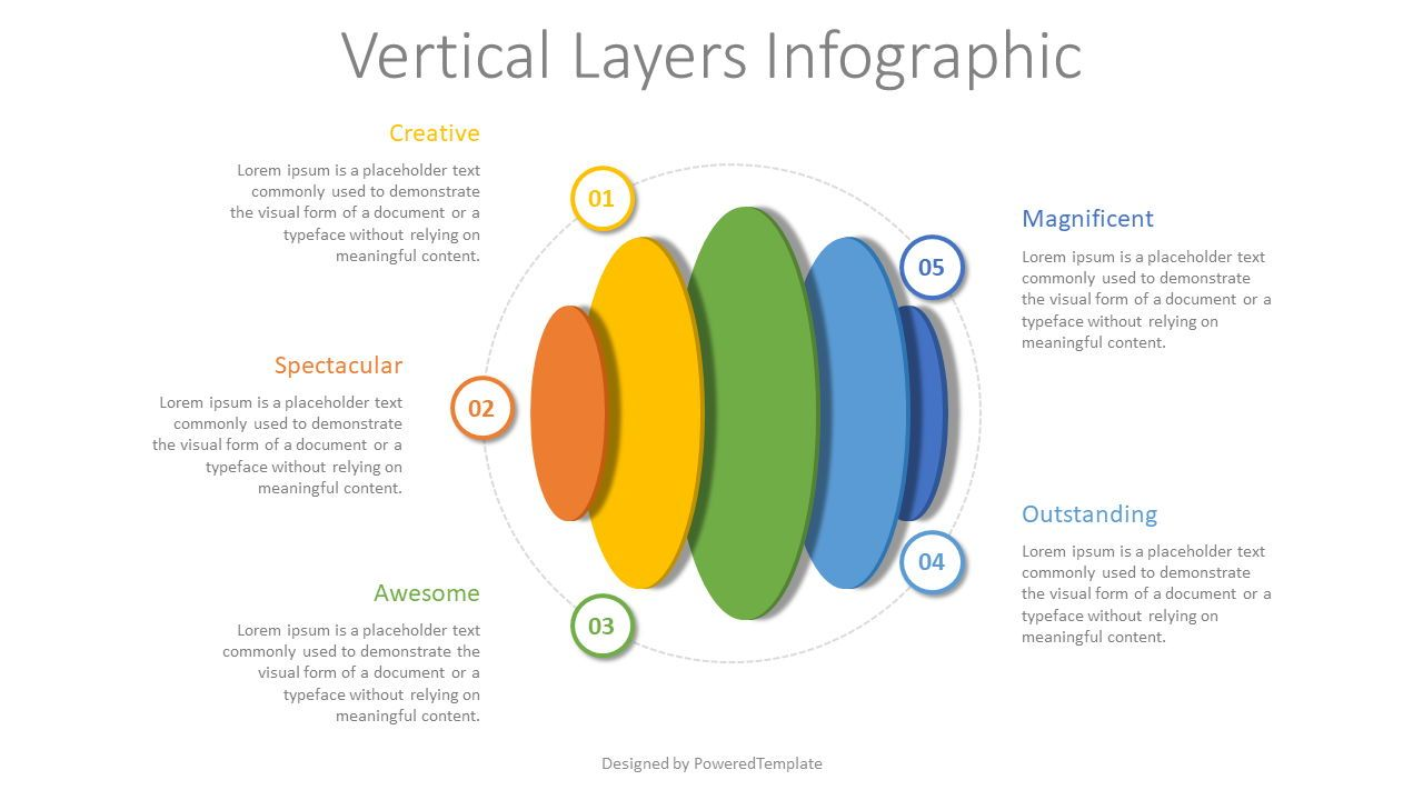 Vertical Layers Infographic, 08328, Infographics — PoweredTemplate.com