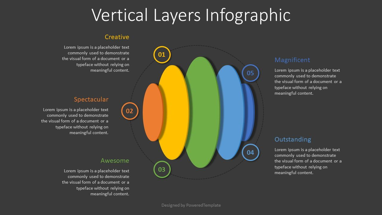 Vertical Layers Infographic, Slide 2, 08328, Infographics — PoweredTemplate.com
