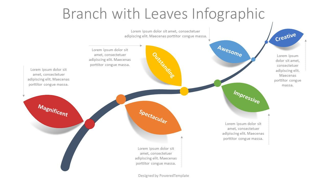 Branch with Leaves Infographic, Slide 2, 08329, Infographics — PoweredTemplate.com