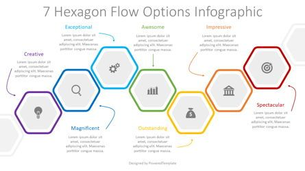 Infographics: 7 Hexagon Flow Options Infographic #08331