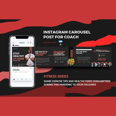 Infographics: Body healthy instagram carousel keynote template #08332