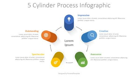 Infographics: 5 Cylinder Process Infographic #08333