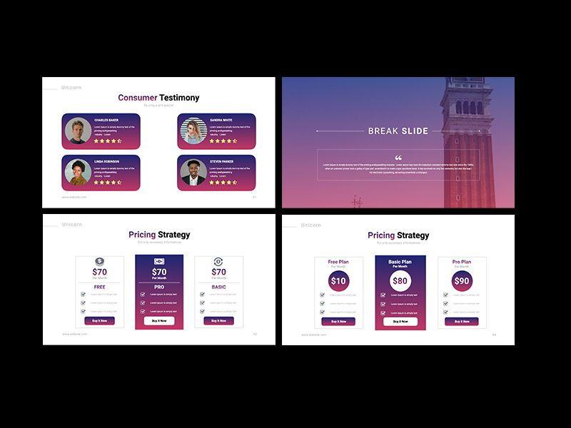 UNICORN Startup Pitch Deck Template PPTX, Slide 17, 08334, Presentation Templates — PoweredTemplate.com