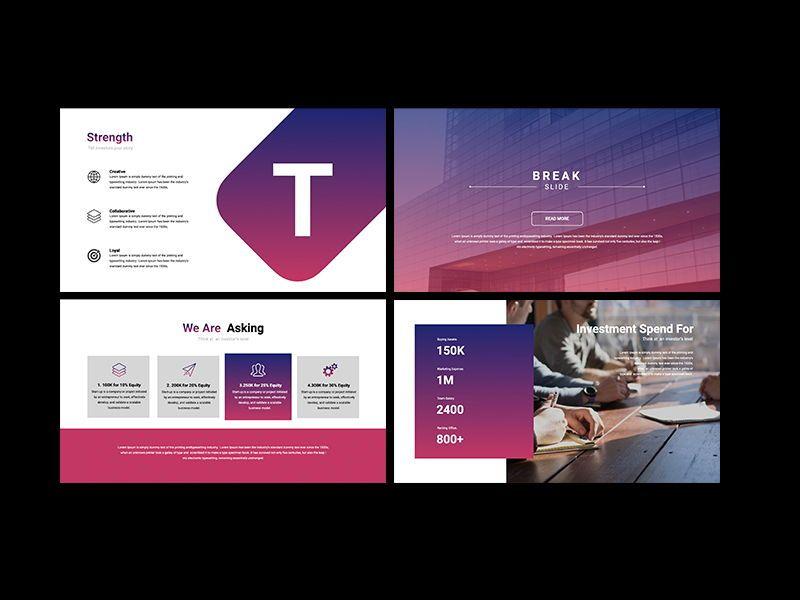 UNICORN Startup Pitch Deck Template PPTX, Slide 5, 08334, Presentation Templates — PoweredTemplate.com