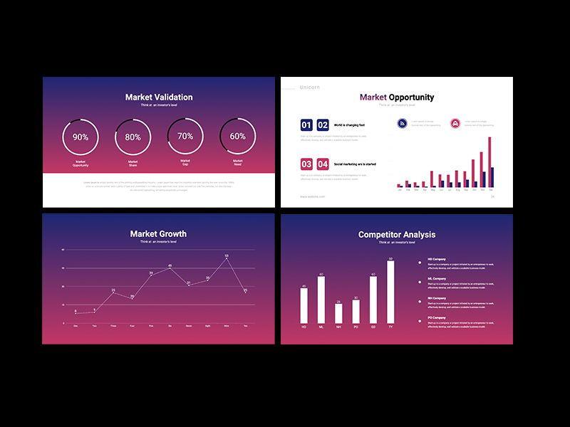 UNICORN Startup Pitch Deck Template PPTX, Slide 8, 08334, Presentation Templates — PoweredTemplate.com