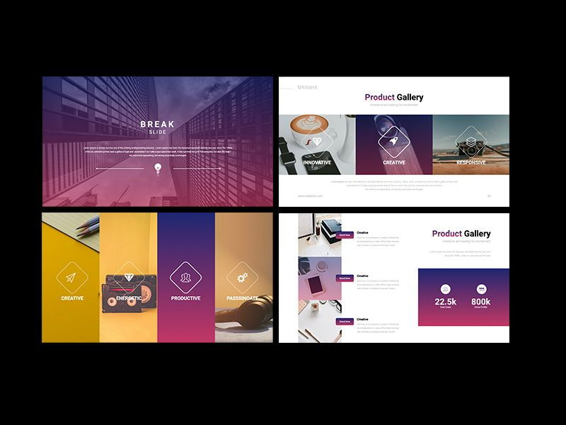 UNICORN Startup Pitch Deck Template PPTX, Slide 9, 08334, Presentation Templates — PoweredTemplate.com