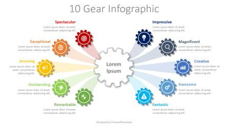 Infographics: 10 Step Gear Infographic #08336