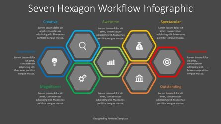 Infographics: 7 Hexagon Workflow Infograpic #08337