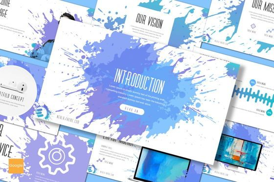 Presentation Templates: Nebla - Google Slides Template #08338