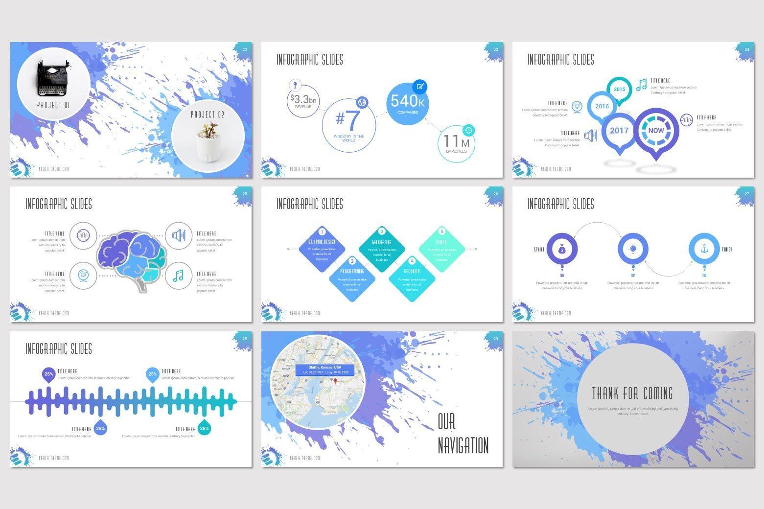 Nebla - Google Slides Template, Slide 5, 08338, Presentation Templates — PoweredTemplate.com
