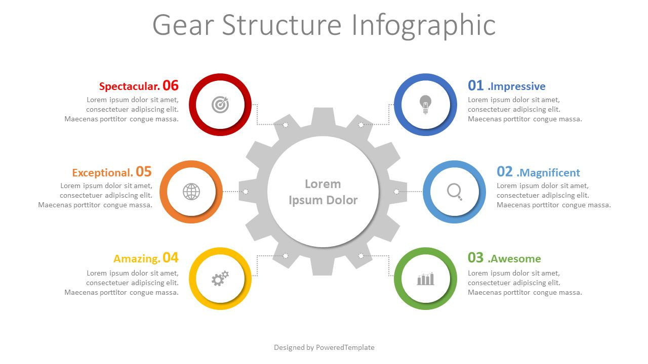 Gear Structure Infographic, 08342, Infographics — PoweredTemplate.com