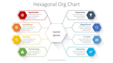 Graph Charts: Hexagonal Organizational Chart #08343