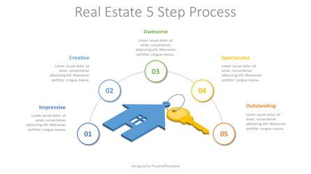 Infographics: Real Estate 5 Step Process #08345