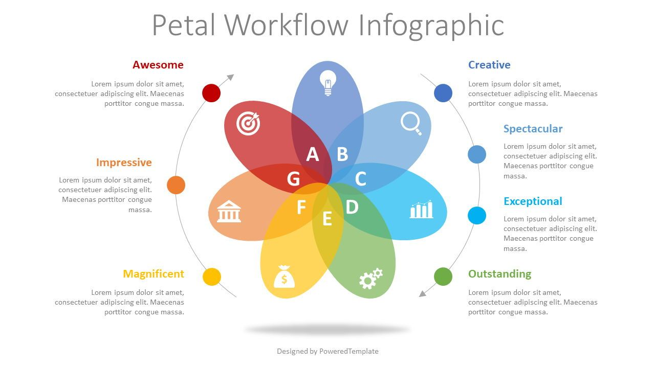 Petal Cycle Workflow Infographic, 08348, Infographics — PoweredTemplate.com