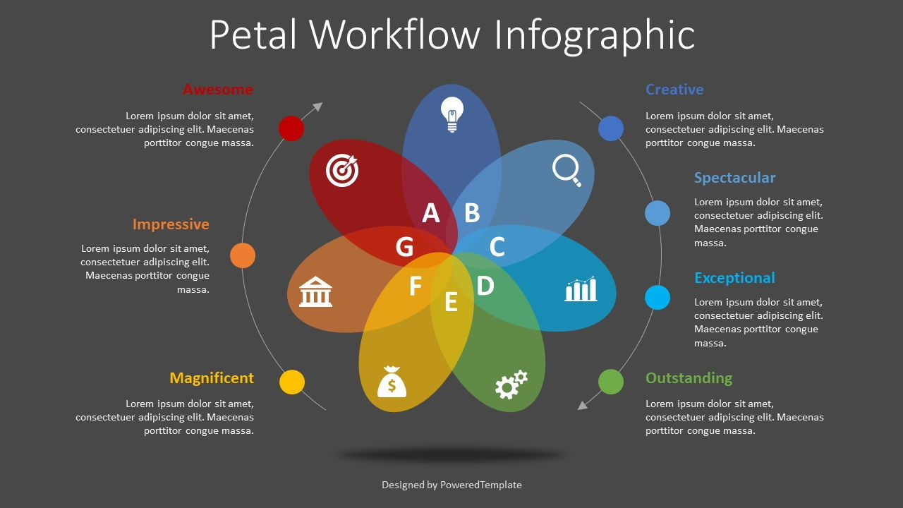 Petal Cycle Workflow Infographic, Slide 2, 08348, Infographics — PoweredTemplate.com