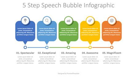 Stage Diagrams: 5 Step Speech Bubble Timeline #08352