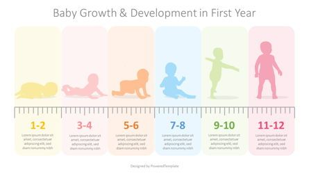 Education Charts and Diagrams: Baby First Year Development Infographic #08355