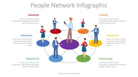 Graph Charts: People Network Infographic #08357