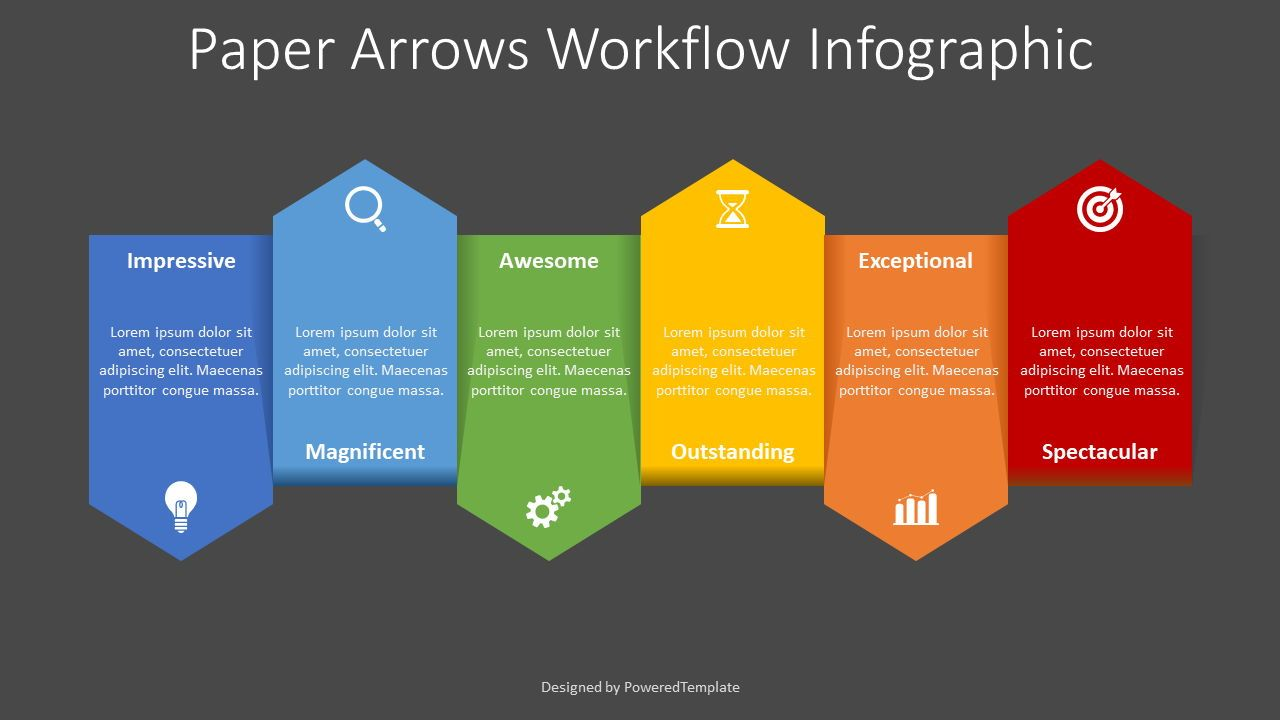 Up and Down Alternate Arrows Workflow, Slide 2, 08361, Process Diagrams — PoweredTemplate.com